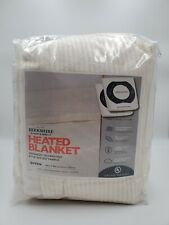 Berkshire Plush Heated Electric Blanket Intellisense Heat Queen Cream Color