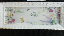 """LENA LIU'S """"SERENITY"""" GARDEN OF TRANQUILITY LARGE WALL PLAQUE-BUTTERFLIES 2005"""