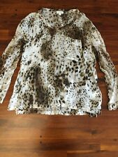 Witchery Leopard Print Long sleeved Top Size 8