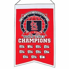 "St. Louis Cardinals 11-Time World Series Champions Banner 14""x22"""