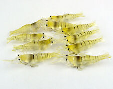 20Pcs Shrimp Lure Bait Fishing Simulation Prawn Saltwater Fish No Hooks Silicone