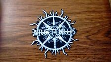 ARCTURUS,IRON ON WHITE EMBROIDERED PATCH