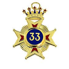 New Superb High Quality Masonic Rose Croix 33rd Degree Star Jewel