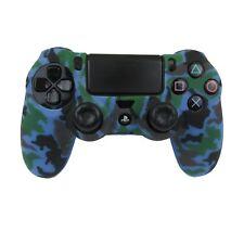 Silicone Grip Blue Camo Case Soft Shell Non Slip For PS4 Controller