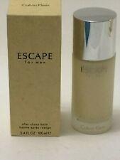 ESCAPE by CALVIN KLEIN Cologne Men 3.4 oz /100 ml After Shave Balm Glass Bottle