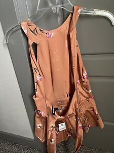 Women's Express Floral Top Blouse Size S