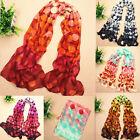 Fashion Dot Ladies Long Soft Wrap Shawl Silk Chiffon Scarf Warm Scarves Stole