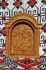 Virgin Mary of Perpetual Help Wood Carved CHRISTIAN icon FREE ENGRAVING