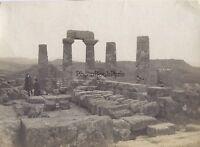 Agrigento Girgenti Tempio Greco Sicilia Italia Vintage Analogica Pezzi Ca