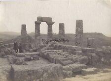 Agrigento Girgenti Temple Grec Sicile Italie Italia Vintage argentique ca 1900