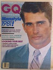 GQ Magazine January 1981 Thom FLEMING Bruce WEBER Jan Michael VINCENT MANSTYLE
