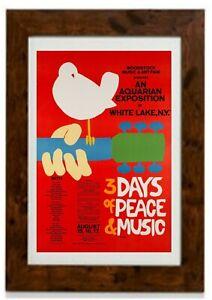 Woodstock Festival 1969 Music Concert Poster Art Framed Print