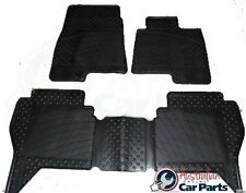 Mitsubishi NS NT NW Pajero Floor Rubber Mats 2007-2017 New Genuine Front & Rear