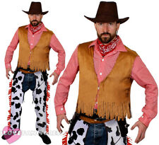 MENS COWBOY COSTUME ADULT WILD WEST SHERIFF FANCY DRESS WESTERN RODEO COW BOY