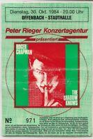 Sammlerticket  ROGER CHAPMAN '84 in Offenbach (foliert)