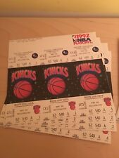 1992 NBA New York Knicks Unused Playoff Tickets