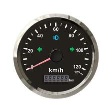85mm Electronic GPS Speedometer 125km/h kph IP67 Panel Stainless Steel Bezel