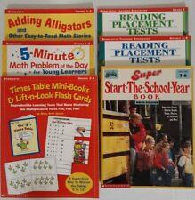 New ListingScholastic Educational Books. Lot of 6. (Grade 1-6) Reading, Writing, Math.