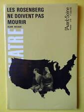 L'Avant-Scène Théâtre 411 1968 Alain Decaux Les Rosenberg et Claude Vazart Eros