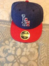 "Dodgers 2017 Stars & Stripes Hat New ERA 59fifty Fitted Low Profile 7 5/8"" New!"