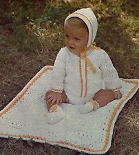 Baby coat, hat + blanket crochet pattern in DK wool. 0-3, 3-6, 6-12 months.