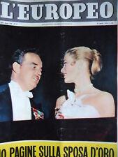 L' EUROPEO n°17 1956 Numero Speciale Matrimonio Grace Kelly Ranieri Monaco [C75]
