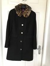 Animal Print Faux Fur Leopard Print Colllar  New Coat  12 V by Very