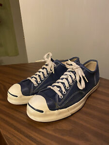 Vintage Mens RARE 60s Made In USA Pre Converse JACK PURCELL Canvas Sz 10 Blue