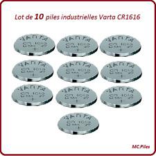 10 piles boutons CR1616 lithium Varta Industrielle, livraison rapide et gratuite
