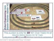 """EE 401 NEW Maerklin Märklin Marklin HO 5120 Industrial Curve """"M"""" Track Oval Kit"""