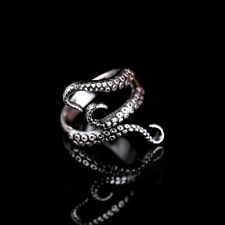 Gothic Deep Sea Squid Octopus Fashion Cool Animal Octopus Rings Simple Punk