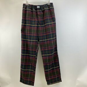 Orvis Red Brown Plaid Sleep Pants Mens Size L