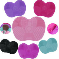 MakeUp Washing Brush Cleaner Pad Mat Gel Scrubber Board Cosmetic Cleaning Tool