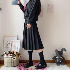 Women Japanese JK Uniform black Dress Student suit school sailor