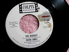 DAVID JONES~THIS BOUQUET~VG~RARE PROMO~COLPIX~WHAT ARE WE GOING TO DO ~ TEEN 45