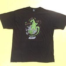 Mens XL Stussy Godzilla Print T-Shirt Tokyo Godzilla Streetwear Skateboard