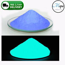 Blue Neon Glow in the Dark Pigment Powder for Paint,Nail,Art,Crafts,Acrylic
