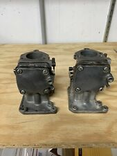Vintage Go Kart McCulloch BDC-14 Carbs - 1 Pair - With Manifolds & Reeds