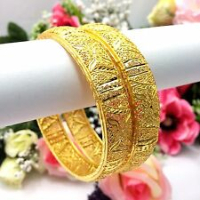 Indian 22ct Gold Plated Bangles Size:2.8 Bridal Pakistani Jewellery Bollywood