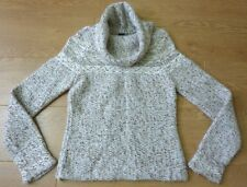 GAP Ladies Funnel Neck Chunky Wool Cream Jumper Size Small