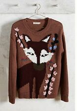Anthropologie Paul And Joe Intarsia Fox Sweater Nwt S Sold Out