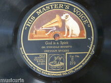 78rpm GRESHAM SINGERS god is a spirit / sweet and low E 270