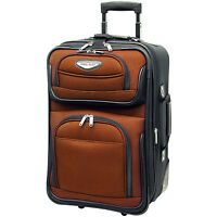 """Travel Select Orange Amsterdam Carry-on 21"""" Expand Rolling luggage Suitcase Bag"""