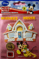 NEW 6 pc MICKEY'S HOUSE Mickey Mouse Pluto Camera  3D Stickers DISNEY JOLEE'S