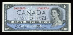 1954 Bank of Canada $5 - Devil's Face Note D/C0483028