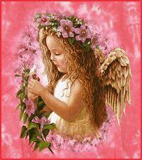 T-Shirt rosa:Blumen Elfe Engel, Gr.146/152,10-12, Blumenkind Fantasy Märchen Fee