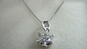 Platinum Diamond Certified Pendant 0.51ct and Chain with Lobster Claw