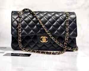 Chanel Classic Double Flap Meium Black Lambskin