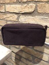 New Restoration Hardware Brown Makeup/ Cosmetic/travel Bag