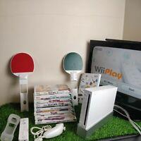 Nintendo Wii Console Bundle - 9 Games - Music Dance, Remotes, Accessorie & Leads